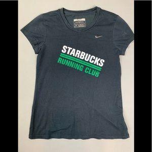 Vintage Nike Starbucks running shirt